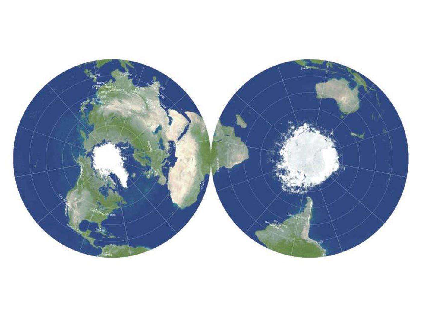 mappa mondo richard gott
